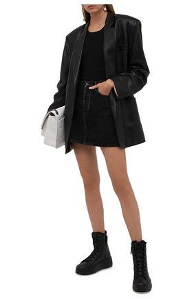 Женские кожаные ботинки VIC MATIE черного цвета, арт. 1W3405D.W62W280101   Фото 2