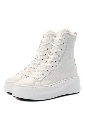 Женские кожаные ботинки VIC MATIE кремвого цвета, арт. 1W3405D.W62W280102   Фото 1