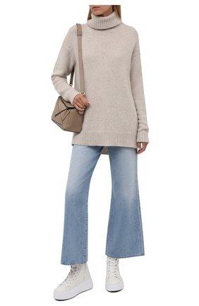 Женские кожаные ботинки VIC MATIE кремвого цвета, арт. 1W3405D.W62W280102   Фото 2
