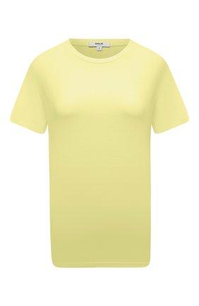 Женская хлопковая футболка AGOLDE желтого цвета, арт. A7078 | Фото 1