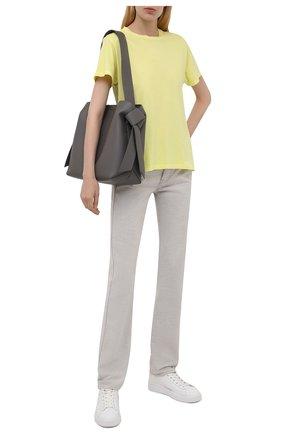 Женская хлопковая футболка AGOLDE желтого цвета, арт. A7078 | Фото 2