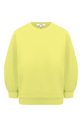 Женский хлопковый свитшот AGOLDE желтого цвета, арт. A7053 | Фото 1