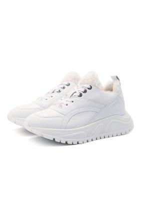 Женские кожаные кроссовки new malaga 6 BOGNER белого цвета, арт. 22140313/NEW MALAGA 6 C   Фото 1