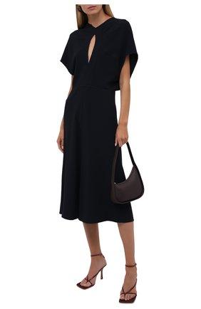 Женское платье VICTORIA BECKHAM темно-синего цвета, арт. 1521WDR002899A | Фото 2