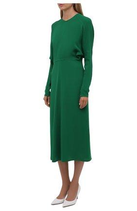 Женское платье из вискозы VICTORIA BECKHAM зеленого цвета, арт. 1521WDR003068A | Фото 2