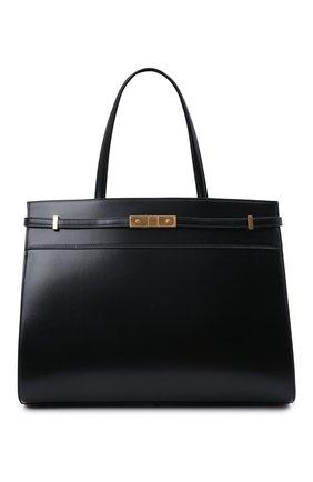 Женский сумка-шопер manhattan medium SAINT LAURENT черного цвета, арт. 553745/0SX0W | Фото 1 (Материал: Натуральная кожа; Размер: medium; Сумки-технические: Сумки-шопперы)