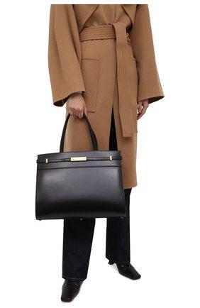 Женский сумка-шопер manhattan medium SAINT LAURENT черного цвета, арт. 553745/0SX0W | Фото 2 (Материал: Натуральная кожа; Размер: medium; Сумки-технические: Сумки-шопперы)