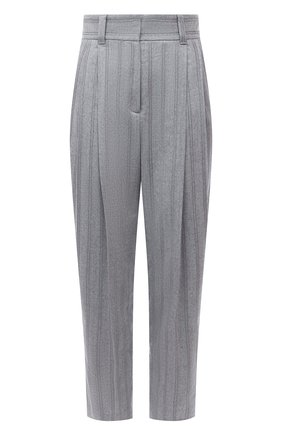 Женские шерстяные брюки BRUNELLO CUCINELLI светло-серого цвета, арт. ME226P7796 | Фото 1 (Материал подклада: Синтетический материал; Длина (брюки, джинсы): Стандартные; Материал внешний: Шерсть; Женское Кросс-КТ: Брюки-одежда; Силуэт Ж (брюки и джинсы): Прямые; Случай: Формальный; Стили: Классический)