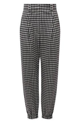 Женские брюки из шерсти и хлопка BRUNELLO CUCINELLI черно-белого цвета, арт. MD507P7776 | Фото 1 (Длина (брюки, джинсы): Стандартные; Материал внешний: Шерсть, Хлопок; Женское Кросс-КТ: Брюки-одежда; Силуэт Ж (брюки и джинсы): Прямые; Случай: Формальный; Стили: Классический)