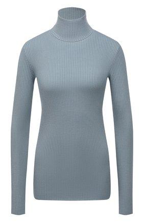 Женский водолазка из шерсти и кашемира BRUNELLO CUCINELLI голубого цвета, арт. M14822903 | Фото 1 (Длина (для топов): Стандартные; Материал внешний: Шерсть; Рукава: Длинные; Женское Кросс-КТ: Водолазка-одежда; Стили: Кэжуэл)