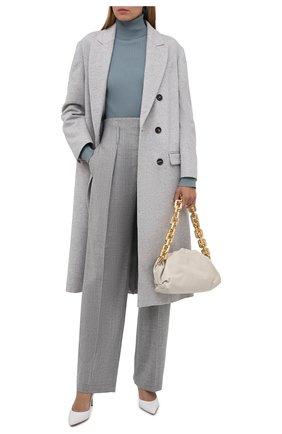 Женский водолазка из шерсти и кашемира BRUNELLO CUCINELLI голубого цвета, арт. M14822903 | Фото 2 (Длина (для топов): Стандартные; Материал внешний: Шерсть; Рукава: Длинные; Женское Кросс-КТ: Водолазка-одежда; Стили: Кэжуэл)