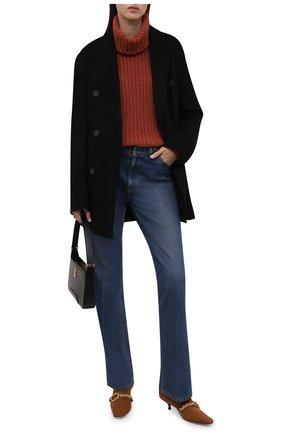 Женский кашемировый свитер LORO PIANA красного цвета, арт. FAL2177 | Фото 2 (Материал внешний: Шерсть, Кашемир; Женское Кросс-КТ: Свитер-одежда; Стили: Кэжуэл; Рукава: Длинные; Длина (для топов): Стандартные)
