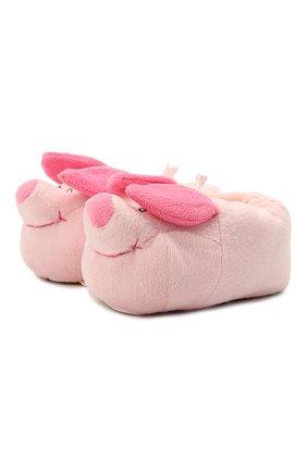 Детского текстильная домашняя обувь DE FONSECA розового цвета, арт. ARNO 470RU | Фото 1 (Материал внешний: Текстиль)