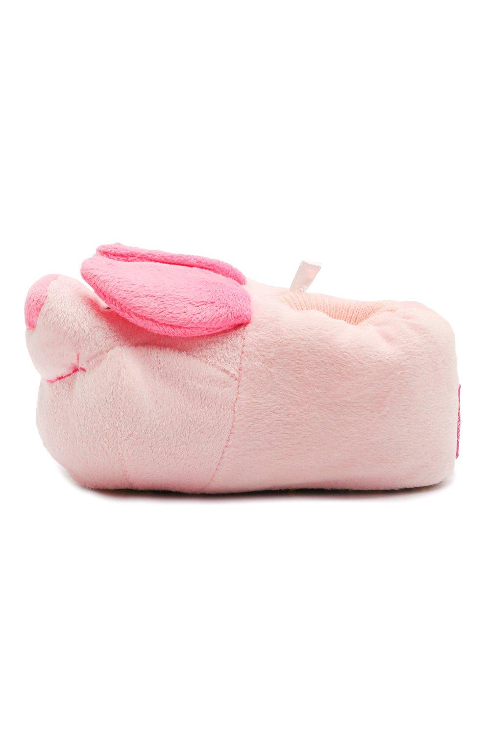 Детского текстильная домашняя обувь DE FONSECA розового цвета, арт. ARNO 470RU | Фото 2 (Материал внешний: Текстиль)