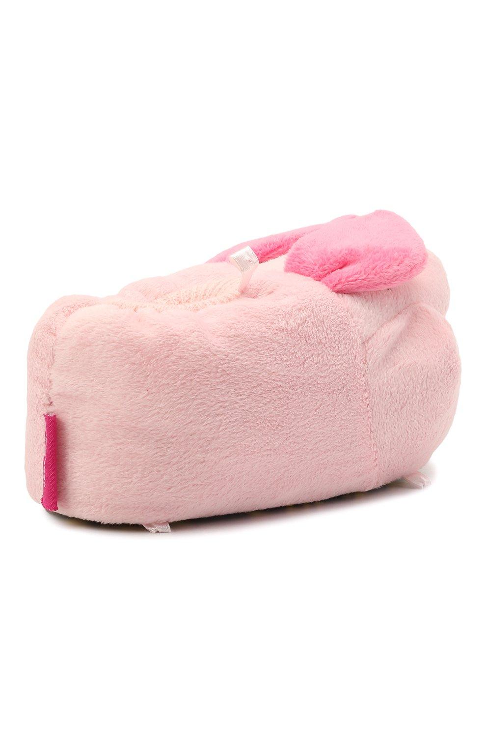 Детского текстильная домашняя обувь DE FONSECA розового цвета, арт. ARNO 470RU | Фото 3 (Материал внешний: Текстиль)