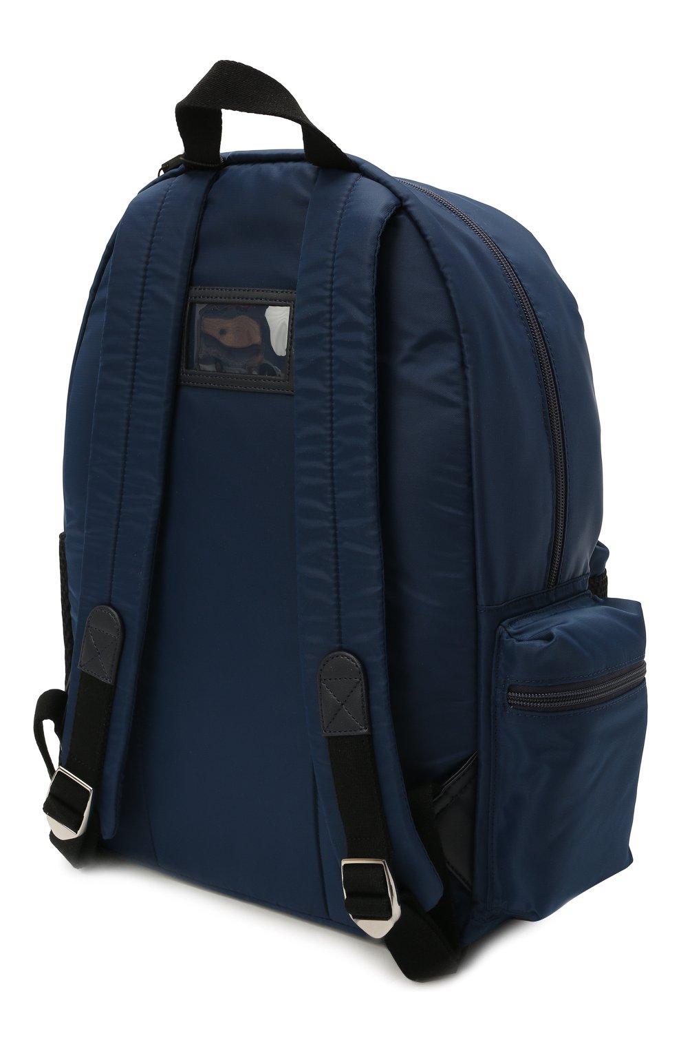 Детская рюкзак DOLCE & GABBANA темно-синего цвета, арт. EM0105/AT994 | Фото 2 (Материал: Текстиль)
