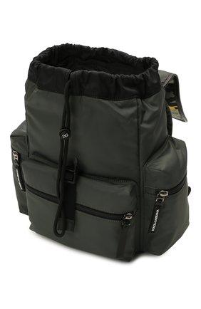 Детская рюкзак DOLCE & GABBANA хаки цвета, арт. EM0100/AA601 | Фото 3 (Материал: Натуральная кожа, Текстиль)