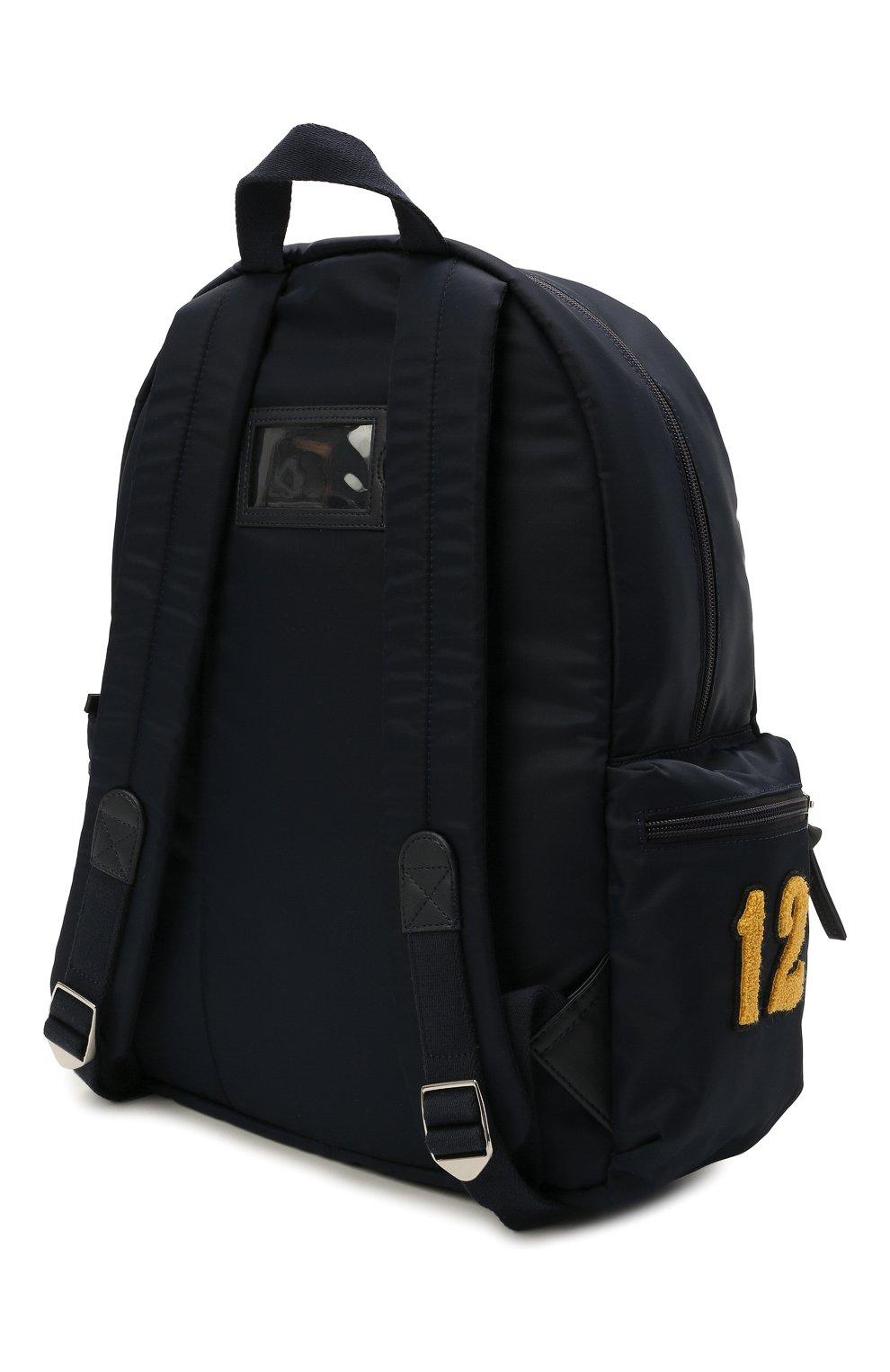 Детская рюкзак DOLCE & GABBANA темно-синего цвета, арт. EB0230/AU927 | Фото 2 (Материал: Текстиль)