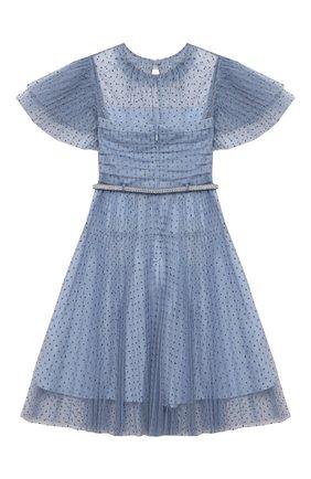 Детское платье SELF-PORTRAIT KIDS голубого цвета, арт. PF21-715 | Фото 2 (Материал подклада: Синтетический материал; Рукава: Короткие; Материал внешний: Синтетический материал; Девочки Кросс-КТ: Платье-одежда; Ростовка одежда: 4 года | 104 см, 5 лет | 110 см, 6 лет | 116 см, 7 лет | 122 см, 8 лет | 128 см, 10 - 11 лет | 140 - 146см, 9 лет | 134 см)