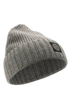 Детского шапка из шерсти и вискозы STONE ISLAND темно-серого цвета, арт. 7516N03A8 | Фото 1 (Материал: Текстиль, Вискоза, Шерсть)