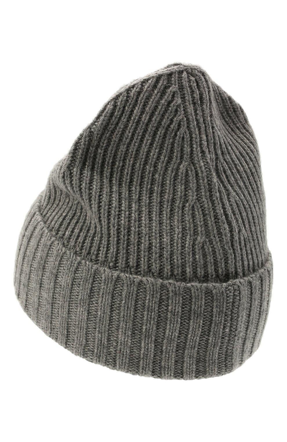 Детского шапка из шерсти и вискозы STONE ISLAND темно-серого цвета, арт. 7516N03A8 | Фото 2 (Материал: Текстиль, Шерсть, Вискоза)