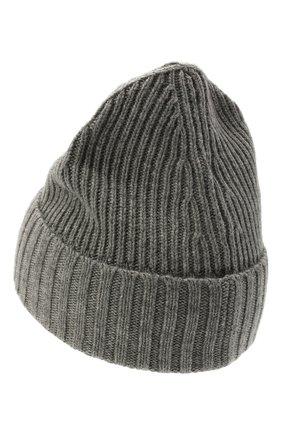Детского шапка из шерсти и вискозы STONE ISLAND темно-серого цвета, арт. 7516N03A8 | Фото 2 (Материал: Текстиль, Вискоза, Шерсть)
