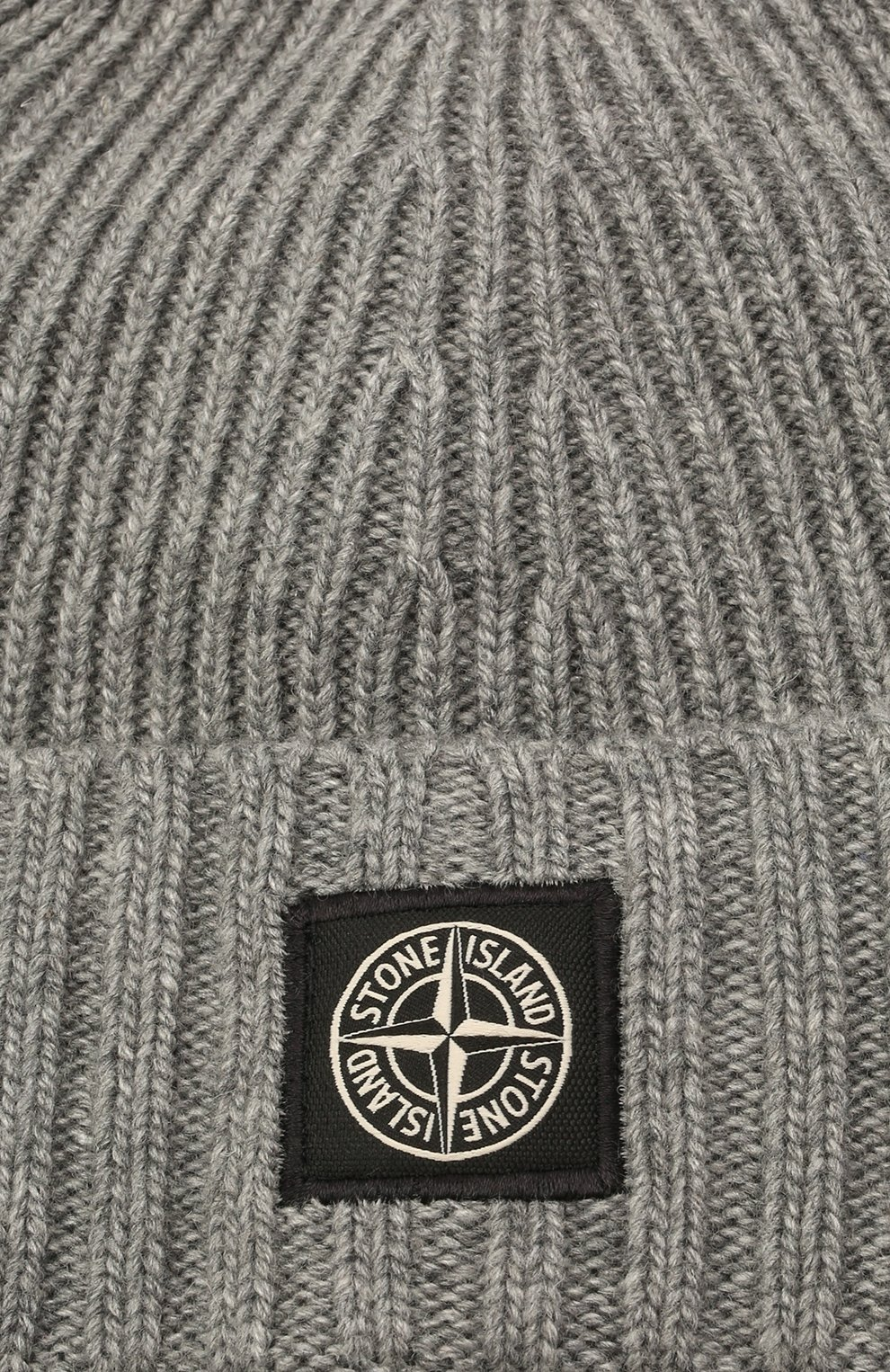 Детского шапка из шерсти и вискозы STONE ISLAND темно-серого цвета, арт. 7516N03A8 | Фото 3 (Материал: Текстиль, Шерсть, Вискоза)
