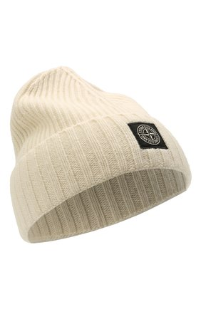 Детского шапка из шерсти и вискозы STONE ISLAND белого цвета, арт. 7516N03A8 | Фото 1