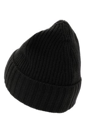 Детского шапка из шерсти и вискозы STONE ISLAND черного цвета, арт. 7516N03A8   Фото 2 (Материал: Текстиль, Шерсть, Вискоза)