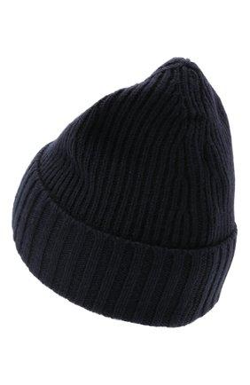 Детского шапка из шерсти и вискозы STONE ISLAND темно-синего цвета, арт. 7516N03A8 | Фото 2