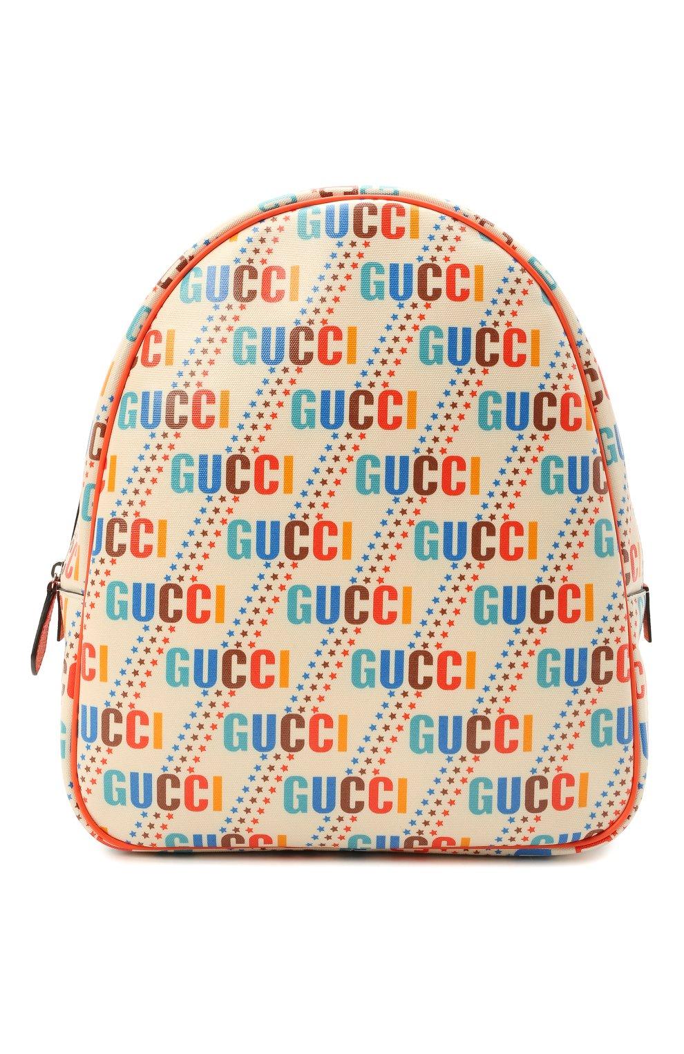 Детская рюкзак GUCCI разноцветного цвета, арт. 433578/21ZDN | Фото 1 (Материал: Текстиль)