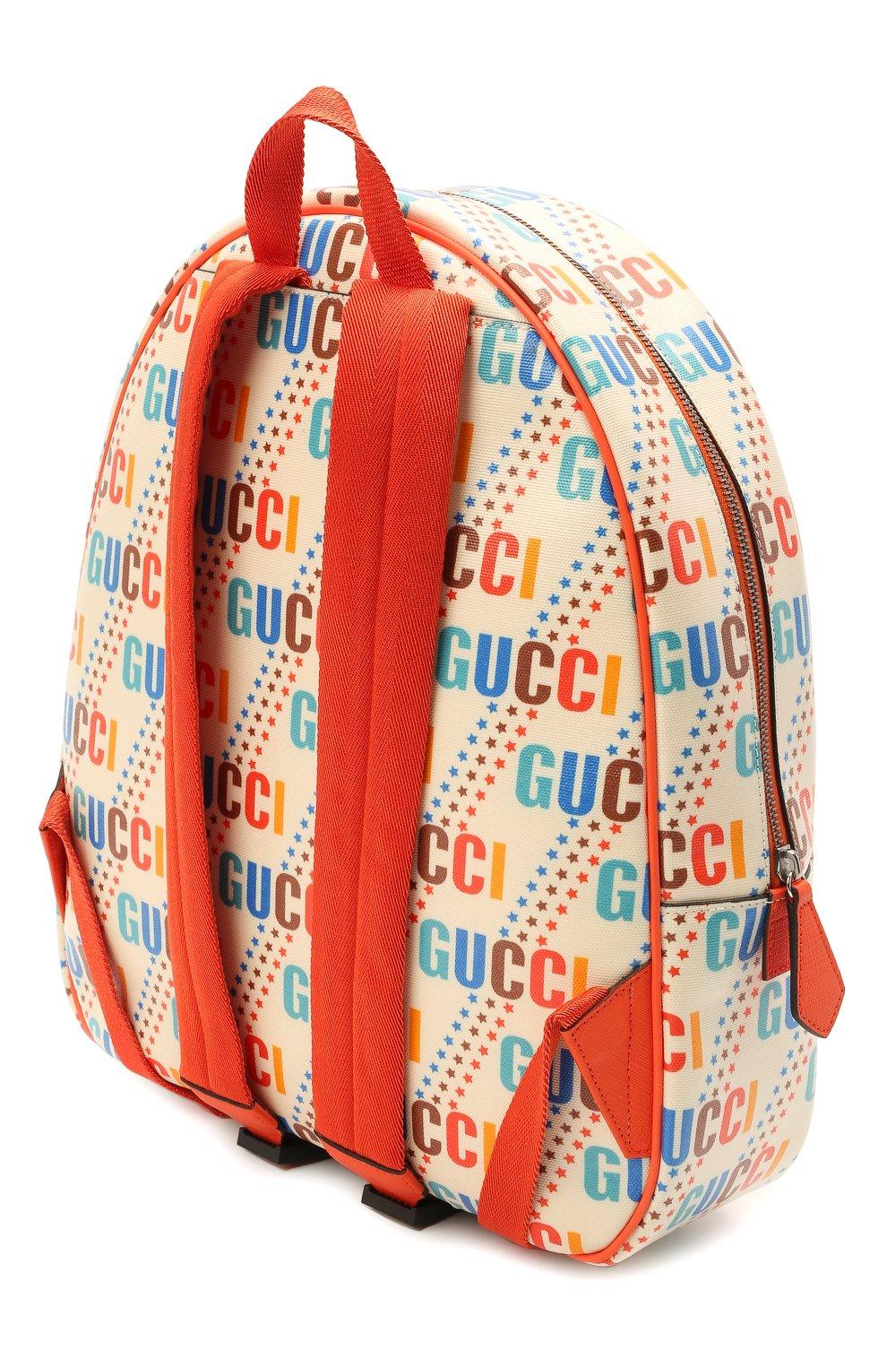 Детская рюкзак GUCCI разноцветного цвета, арт. 433578/21ZDN | Фото 2 (Материал: Текстиль)