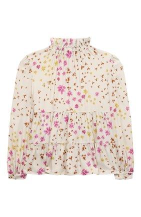Детское блузка из вискозы IL GUFO бежевого цвета, арт. A21CL198R4001/2A-4A | Фото 2