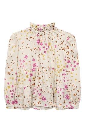 Детское блузка из вискозы IL GUFO бежевого цвета, арт. A21CL198R4001/5A-8A | Фото 1