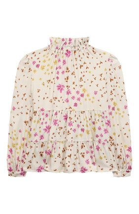 Детское блузка из вискозы IL GUFO бежевого цвета, арт. A21CL198R4001/5A-8A | Фото 2