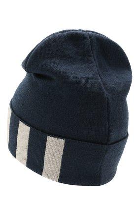Детского шерстяная шапка CATYA темно-синего цвета, арт. 125713 | Фото 2