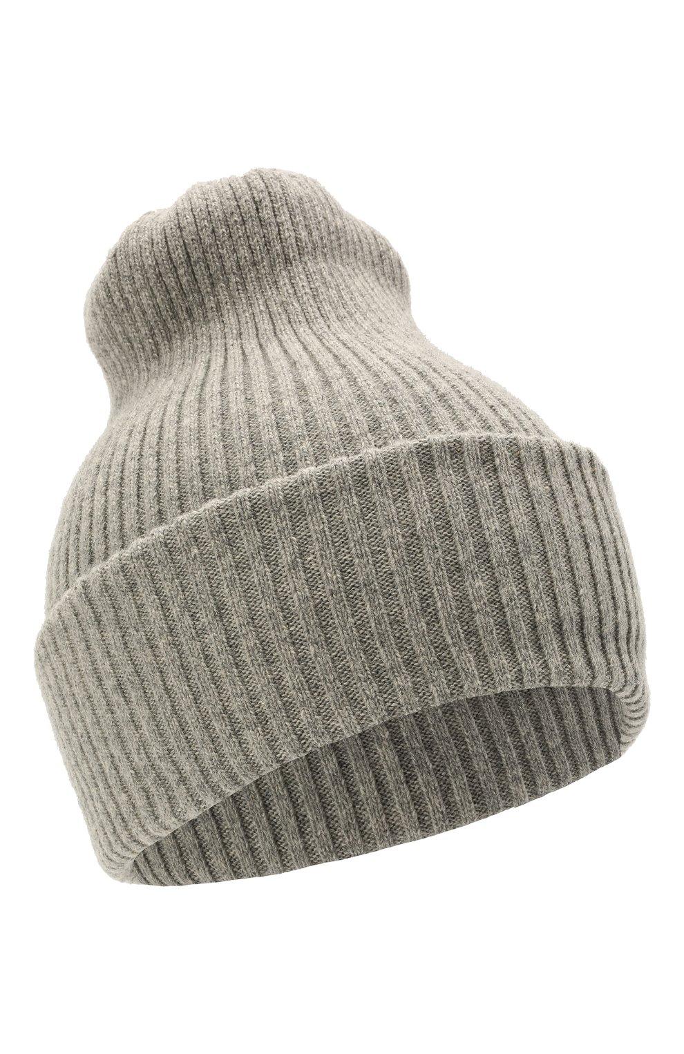 Детского шерстяная шапка CATYA серого цвета, арт. 125698 | Фото 1 (Материал: Кашемир, Шерсть)