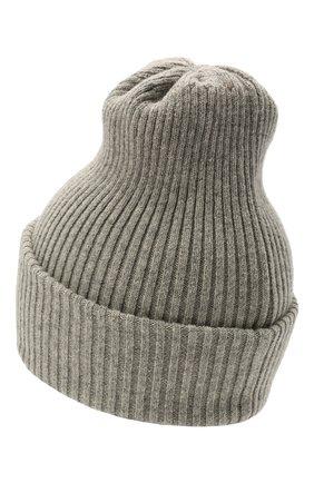 Детского шерстяная шапка CATYA серого цвета, арт. 125698 | Фото 2