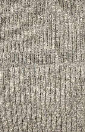 Детского шерстяная шапка CATYA серого цвета, арт. 125698 | Фото 3 (Материал: Кашемир, Шерсть)
