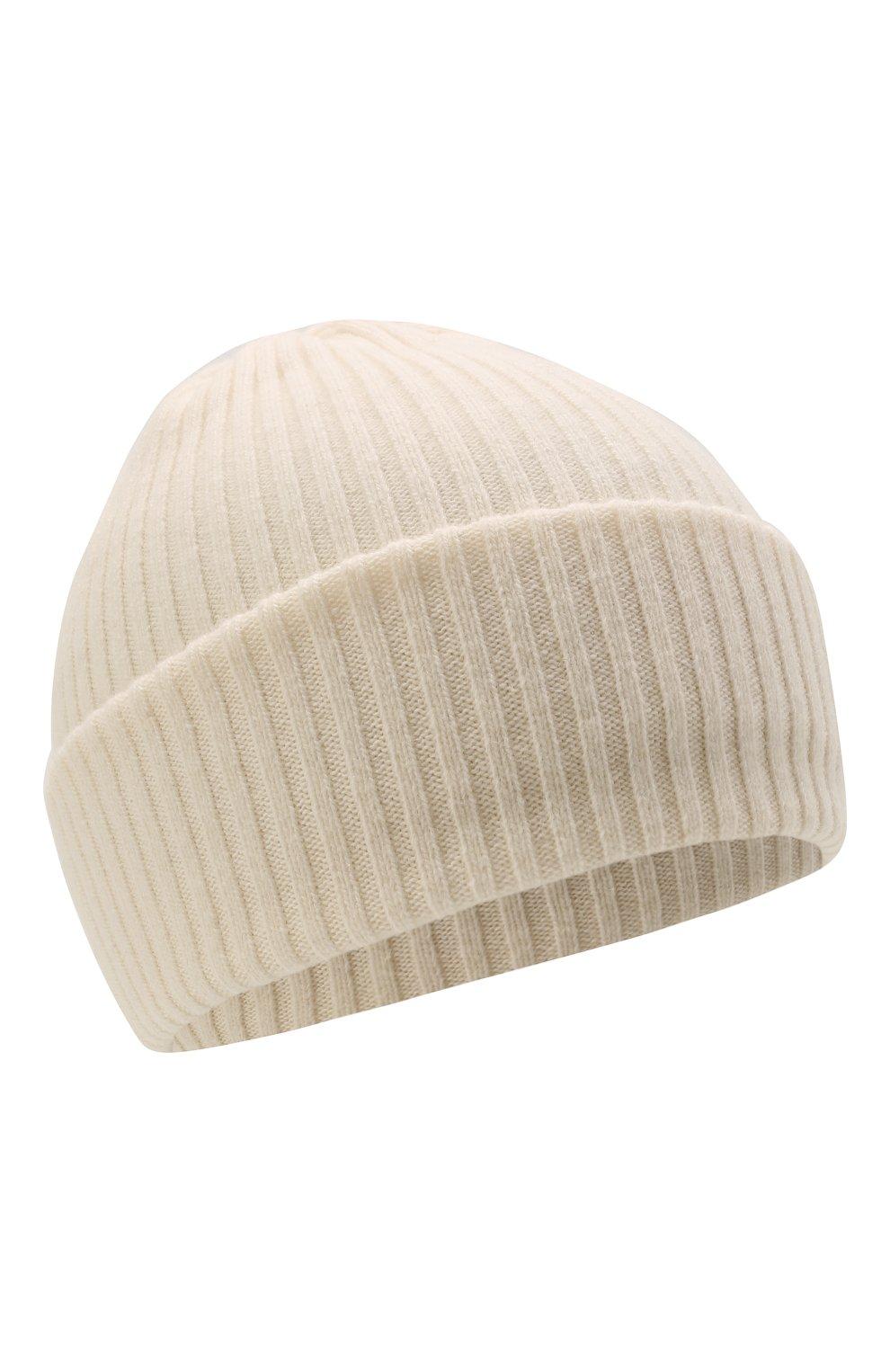 Детского шерстяная шапка CATYA белого цвета, арт. 125698 | Фото 1 (Материал: Кашемир, Шерсть)