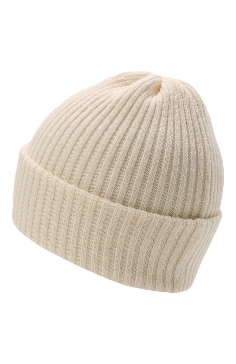 Детского шерстяная шапка CATYA белого цвета, арт. 125698 | Фото 2 (Материал: Кашемир, Шерсть)