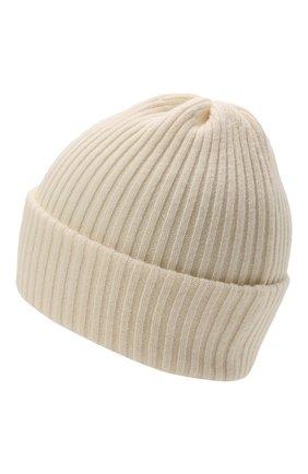 Детского шерстяная шапка CATYA белого цвета, арт. 125698 | Фото 2