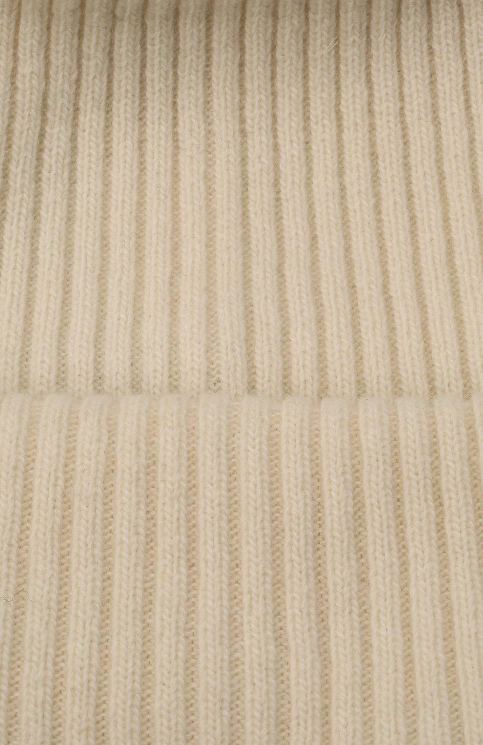 Детского шерстяная шапка CATYA белого цвета, арт. 125698 | Фото 3 (Материал: Кашемир, Шерсть)