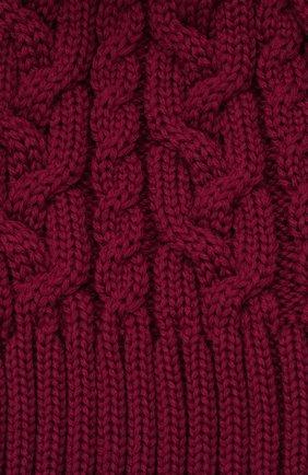 Детского шерстяная шапка с меховой отделкой CATYA темно-розового цвета, арт. 125625   Фото 3 (Материал: Шерсть)