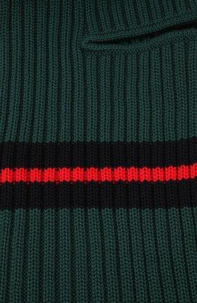 Детского шерстяная шапка-балаклава CATYA зеленого цвета, арт. 125618   Фото 3 (Материал: Шерсть)