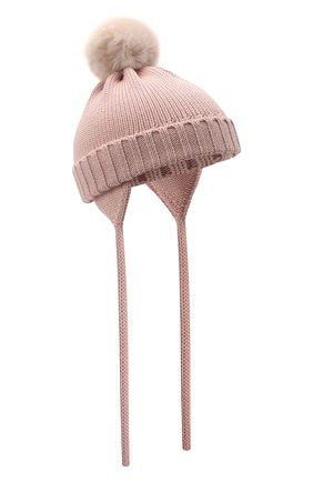 Детского шерстяная шапка CATYA розового цвета, арт. 125570/A | Фото 1