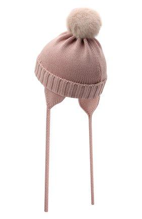 Детского шерстяная шапка CATYA розового цвета, арт. 125570/A | Фото 2