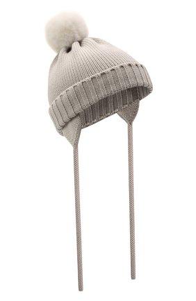 Детского шерстяная шапка CATYA светло-серого цвета, арт. 125570/A | Фото 1