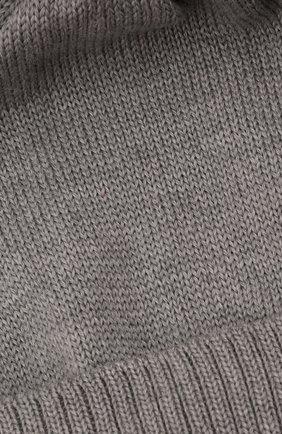 Детского шерстяная шапка с меховой отделкой CATYA серого цвета, арт. 125562/AF | Фото 3 (Материал: Шерсть)
