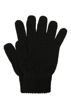 Детские шерстяные перчатки CATYA черного цвета, арт. 125545 | Фото 1